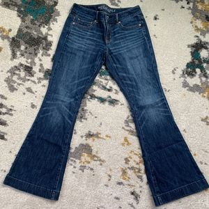 American Eagle Skinny Flare Stretch Jean 4 Short